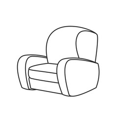 sofa chair furniture image outline vector image
