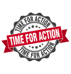 time for action stamp sign seal vector image
