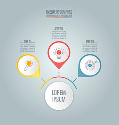 timeline business concept with 3 options vector image