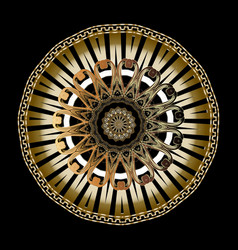 3d baroque round mandala pattern ornamental vector