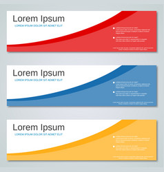 Abstract colorful banners templates vector