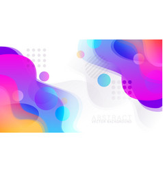 abstract colorful fluid background vector image