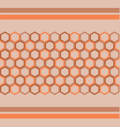 abstract hexagon geometry background vector image
