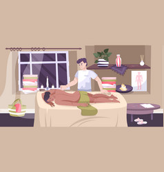 Acupuncture flat composition vector