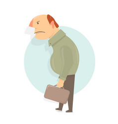 angry old man character cartoon character comic vector image