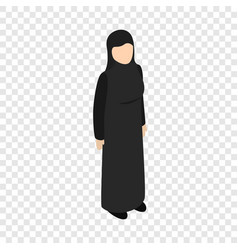 arab woman isometric icon vector image