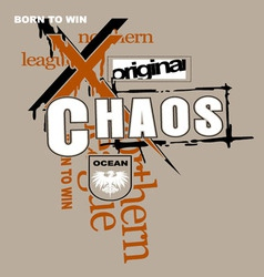 Art design with chaos models vector