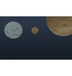 Art outer space planet landscape vector