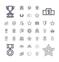 Award icons vector