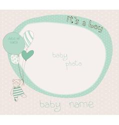 Baboy photo frame vector