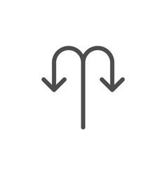 back arrow line icon vector image