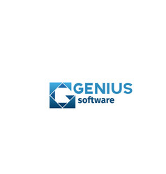 badge genius sofrware vector image