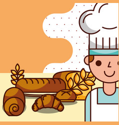Bakery and dessert products concept vector