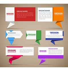 big set web banners in origami style vector image