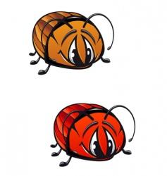 Cartoon beetle vector