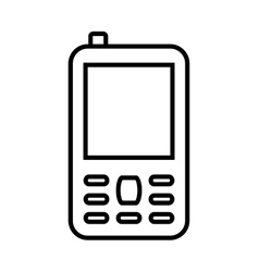 Cellphone with bubble icon Mobile design vector