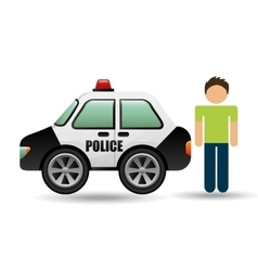 character police car graphic vector image