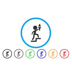 Child leader rounded icon vector