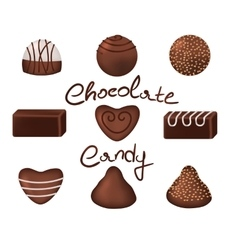 Chocolate candies set vector