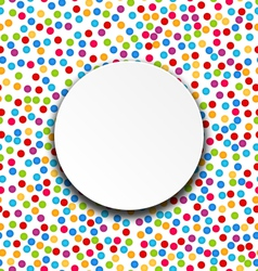 Circle Frame on Confetti Background vector