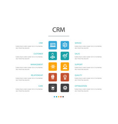 Crm infographic 10 option conceptcustomer vector