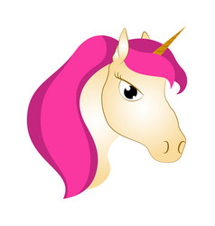 cute unicorn fantasy creature vector image