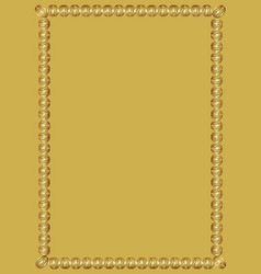 decorative luxurious golden frame on golden vector image