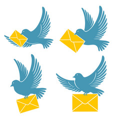 Dove delivers mail vector