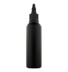 Dye hair color bottle black cosmetic tube mock up vector