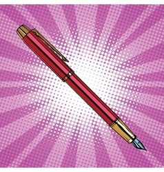 Expensive ink pen business accessory vector