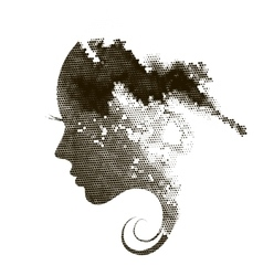 Female profile spot vector