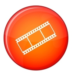 Film with frames icon flat style vector image