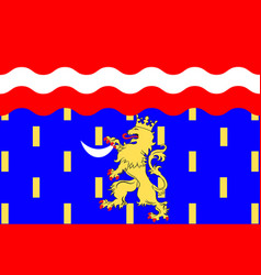 Flag of haute-saone in franche-comte is a region vector