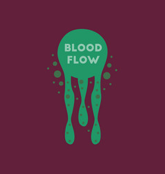 Flat icon on stylish background blood flow vector