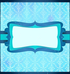 Frozen vintage frame vector image