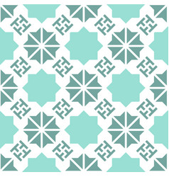 Geometric turquoise mint color pattern vector