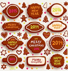 Gingerbread Christmas Design Set vector