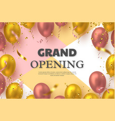 Grand opening ceremony banner vector