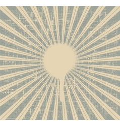 Grunge rays background vector