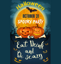 Halloween party poster for holiday night vector
