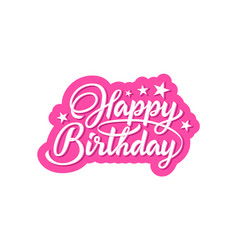 happy birthday phrase vector image