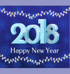 Happy new year 2018 banner vector