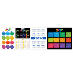 horizontal and vertical pocket and wall calendars vector image