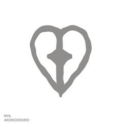 Icon with adinkra symbol nya akokooduro vector