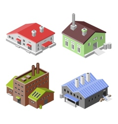 Industrial buildings isometric vector image