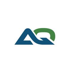 Initial aq logo bold template vector