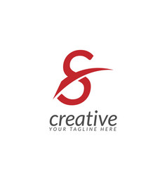 initial letter red creative design logo vector image