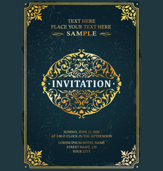 Invitation classic template card design vector