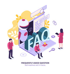 Isometric faq support composition vector