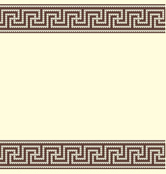 Knitted greek background vector